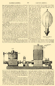 Excerpts on electric lighting taken from the National Encyclopedia